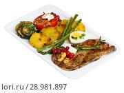 Купить «Veal with grilled vegetables», фото № 28981897, снято 27 июня 2018 г. (c) Яков Филимонов / Фотобанк Лори
