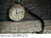 Купить «Old swiss pocket watch on the wooden boards», фото № 28985213, снято 3 июля 2018 г. (c) Георгий Дзюра / Фотобанк Лори