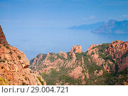 Купить «Calanques de Piana, Corsica, France», фото № 29004721, снято 23 августа 2018 г. (c) EugeneSergeev / Фотобанк Лори