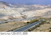 Road in Ein Avdat and Zin Valley. Negev, desert and semidesert region of southern Israel (2018 год). Стоковое фото, фотограф Валерия Попова / Фотобанк Лори
