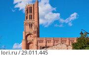 Купить «Cathedral Basilica of Saint Cecilia, Albi, France», видеоролик № 29011445, снято 29 марта 2018 г. (c) BestPhotoStudio / Фотобанк Лори