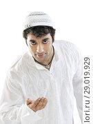 Muslim man greeting. Стоковое фото, фотограф IndiaPicture / easy Fotostock / Фотобанк Лори