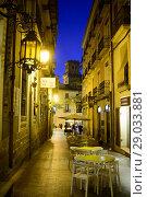 Купить «Street of the old town of Alicante, Valencia, Spain», фото № 29033881, снято 23 декабря 2016 г. (c) age Fotostock / Фотобанк Лори