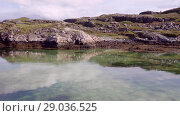 Купить «Norwegian fjord in sunny day, Averoy, Norway», видеоролик № 29036525, снято 1 сентября 2018 г. (c) Некрасов Андрей / Фотобанк Лори