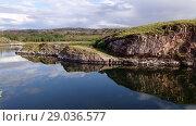 Купить «Norwegian fjord in sunny day, Averoy, Norway», видеоролик № 29036577, снято 1 сентября 2018 г. (c) Некрасов Андрей / Фотобанк Лори