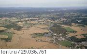 Купить «Aerial view on Norway under clouds», видеоролик № 29036761, снято 1 сентября 2018 г. (c) Некрасов Андрей / Фотобанк Лори
