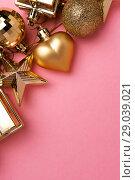 Купить «Merry Christmas and New Year decoration set», фото № 29039021, снято 3 января 2018 г. (c) Pavel Biryukov / Фотобанк Лори