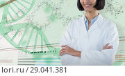 Купить «Composite image of doctor standing with arms crossed against white background», фото № 29041381, снято 30 марта 2020 г. (c) Wavebreak Media / Фотобанк Лори