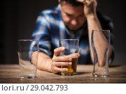 Купить «alcoholic drinking beer from glass at night», фото № 29042793, снято 24 ноября 2017 г. (c) Syda Productions / Фотобанк Лори