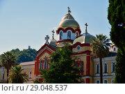 Купить «Novy Afonsky for male Monastery in Abkhazia», фото № 29048537, снято 3 июня 2018 г. (c) Володина Ольга / Фотобанк Лори