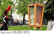 Купить «Historical reconstruction in Moscow, Russia», видеоролик № 29051073, снято 4 февраля 2018 г. (c) BestPhotoStudio / Фотобанк Лори