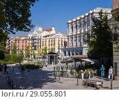 Купить «Plaza de Oriente. Madrid, Spain.», фото № 29055801, снято 11 октября 2017 г. (c) age Fotostock / Фотобанк Лори