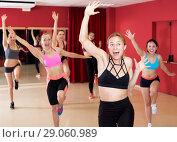Купить «Active females dancing excited posing», фото № 29060989, снято 31 мая 2017 г. (c) Яков Филимонов / Фотобанк Лори
