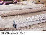 Купить «Image of wicker organic bamboo carpets», фото № 29061097, снято 22 ноября 2017 г. (c) Яков Филимонов / Фотобанк Лори