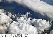 Купить «see of a cumulus clouds from above», фото № 29061121, снято 6 июня 2018 г. (c) Володина Ольга / Фотобанк Лори