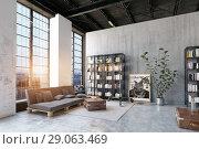 Купить «modern loft lving room.», фото № 29063469, снято 20 октября 2018 г. (c) Виктор Застольский / Фотобанк Лори