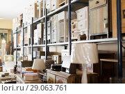 Купить «Old furniture offered for sale in secondhand shop», фото № 29063761, снято 9 ноября 2017 г. (c) Яков Филимонов / Фотобанк Лори