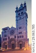 Cathedral of San Lorenzo, Genoa (2017 год). Стоковое фото, фотограф Яков Филимонов / Фотобанк Лори