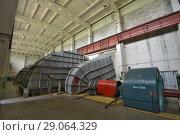 Купить «Мощная вентиляционная установка», фото № 29064329, снято 11 июля 2018 г. (c) Геннадий Соловьев / Фотобанк Лори