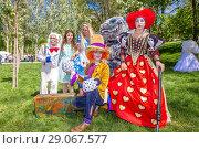 Купить «Russia Samara May 2018: Street artists on press day in Strukovsky Park.», фото № 29067577, снято 27 мая 2018 г. (c) Акиньшин Владимир / Фотобанк Лори