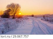 Купить «the beautiful winter landscape», фото № 29067757, снято 23 января 2018 г. (c) Майя Крученкова / Фотобанк Лори
