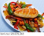 Купить «Plakiya with chicken breast», фото № 29070361, снято 25 марта 2019 г. (c) Яков Филимонов / Фотобанк Лори