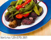 Купить «Stew mutton meat with vegetables», фото № 29070381, снято 16 августа 2018 г. (c) Яков Филимонов / Фотобанк Лори