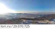 Купить «Город Чита, зимняя панорама со стороны Высокогорья», фото № 29070725, снято 3 января 2018 г. (c) Геннадий Соловьев / Фотобанк Лори