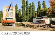 Купить «Ремонтные работы  на теплотрассе Липецк», фото № 29070829, снято 12 сентября 2018 г. (c) Евгений Будюкин / Фотобанк Лори