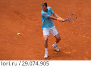 Купить «Tomas Berdych of Czech Republic against Robin Haase of Netherlands during day five of the Mutua Madrid Open tennis at La Caja Magica Featuring: Tomas Berdych...», фото № 29074905, снято 10 мая 2017 г. (c) age Fotostock / Фотобанк Лори