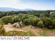Купить «Summer landscape with stones, Corsica», фото № 29082545, снято 20 августа 2018 г. (c) EugeneSergeev / Фотобанк Лори