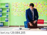Купить «Businessman with many conflicting priorities», фото № 29084205, снято 23 мая 2018 г. (c) Elnur / Фотобанк Лори