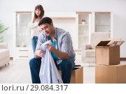 Купить «Woman evicting man from house during family conflict», фото № 29084317, снято 23 марта 2018 г. (c) Elnur / Фотобанк Лори