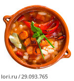 Купить «Dish of Bulgarian cuisine Bob Chorba», фото № 29093765, снято 15 декабря 2018 г. (c) Яков Филимонов / Фотобанк Лори