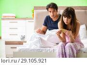 Купить «Man using pills for woman satisfaction», фото № 29105921, снято 25 июня 2018 г. (c) Elnur / Фотобанк Лори