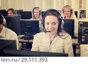 Купить «Employees working at office», фото № 29111393, снято 16 января 2019 г. (c) Яков Филимонов / Фотобанк Лори