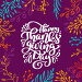 Купить «Happy Thanksgiving Day Calligraphy Text with frame of colored branches, vector Illustrated Typography Isolated on lilac background. Positive lettering quote. Hand drawn modern brush for T-shirt, greeting card», иллюстрация № 29116721 (c) Happy Letters / Фотобанк Лори