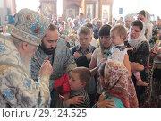 Купить «Престольный праздник в Бобреневе монастыре», эксклюзивное фото № 29124525, снято 21 сентября 2018 г. (c) Дмитрий Неумоин / Фотобанк Лори