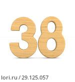 Купить «Number thrity eight on white background. Isolated 3D illustration», иллюстрация № 29125057 (c) Ильин Сергей / Фотобанк Лори