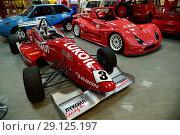 Купить «Sochi, Russia - May 30. 2018. racing car with advertising Lukoil in Auto Sports Museum in main tribune of autodrome», фото № 29125197, снято 30 мая 2018 г. (c) Володина Ольга / Фотобанк Лори