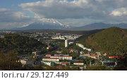 Купить «Петропавловск-Камчатский», видеоролик № 29127449, снято 22 сентября 2018 г. (c) А. А. Пирагис / Фотобанк Лори