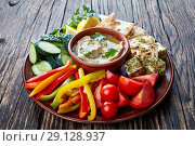 Купить «arabic appetizer baba ganoush dip, close up», фото № 29128937, снято 30 августа 2018 г. (c) Oksana Zh / Фотобанк Лори