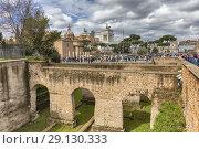 Купить «Roman forum, Via dei Fori Imperiali, Rome, Lazio, Italy.», фото № 29130333, снято 10 марта 2018 г. (c) age Fotostock / Фотобанк Лори