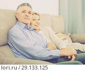 Купить «middle-aged married couple in house are warmly reconciled after quarrel», фото № 29133125, снято 20 октября 2018 г. (c) Яков Филимонов / Фотобанк Лори