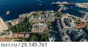 Купить «Mountains in Monaco Monte-Carlo city riviera Drone summer photo Air 360 vr virtual reality drone panorama», фото № 29145761, снято 9 сентября 2018 г. (c) Aleksejs Bergmanis / Фотобанк Лори