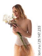 Купить «Gorgeous girl wearing sexy lace corset shot», фото № 29147233, снято 14 августа 2018 г. (c) Гурьянов Андрей / Фотобанк Лори