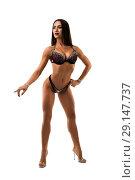Купить «Fitness model in glamorous underwear view», фото № 29147737, снято 19 сентября 2018 г. (c) Гурьянов Андрей / Фотобанк Лори
