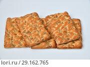 Купить «The dietetic biscuits with a sunflower seeds», фото № 29162765, снято 29 сентября 2018 г. (c) Володина Ольга / Фотобанк Лори