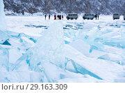 Купить «Ice hummocks of Lake Baikal», фото № 29163309, снято 3 марта 2017 г. (c) Юлия Белоусова / Фотобанк Лори