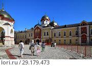 Купить «New Athos, Abkhazia - June 3. 2018. courtyard in Novy Afonsky for men Monastery», фото № 29179473, снято 3 июня 2018 г. (c) Володина Ольга / Фотобанк Лори